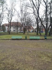 Skwer w Kaliningradzie na ulicy Thalmanna