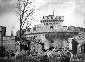 Wieża Wrangel w 1945 roku Królewiec
