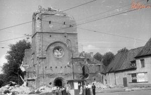 Rozbiórka kościoła Kaliningrad, koniec lat 60