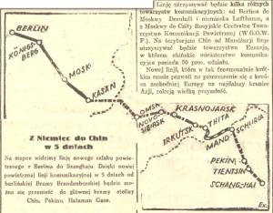 Artykuł z Gazety Gdańskiej o połączeniach przez Królewiec