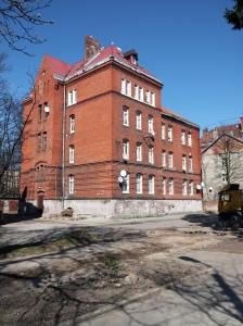 Neogotyckie budynki na Devau kaliningrad