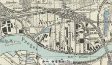 Mapa Królewca i dzielnicy Kosse
