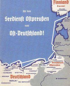 Plakat reklamowy Służby morskiej Prus Wschodnich Źródło: http://pl.wikipedia.org/wiki/Seedienst_Ostpreu%C3%9Fen