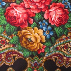 Ornamenty kwiatowe na chuście