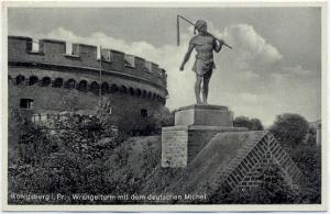 Rzeźba Niemieckiego Michela z 1939 roku. Królewiec