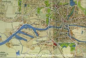 Mapa portu w Królewcu