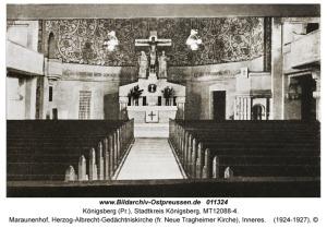 Ołtarz w Kościele Pamięci Księcia Albrechta: Królewiec