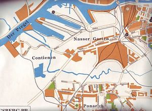 Mapa dzielnicy Contienen